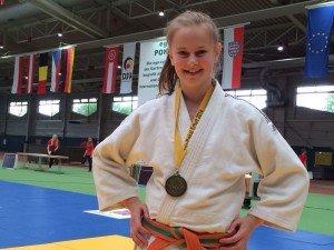Freude über die Bronzemedaille - Melissa Kovacs
