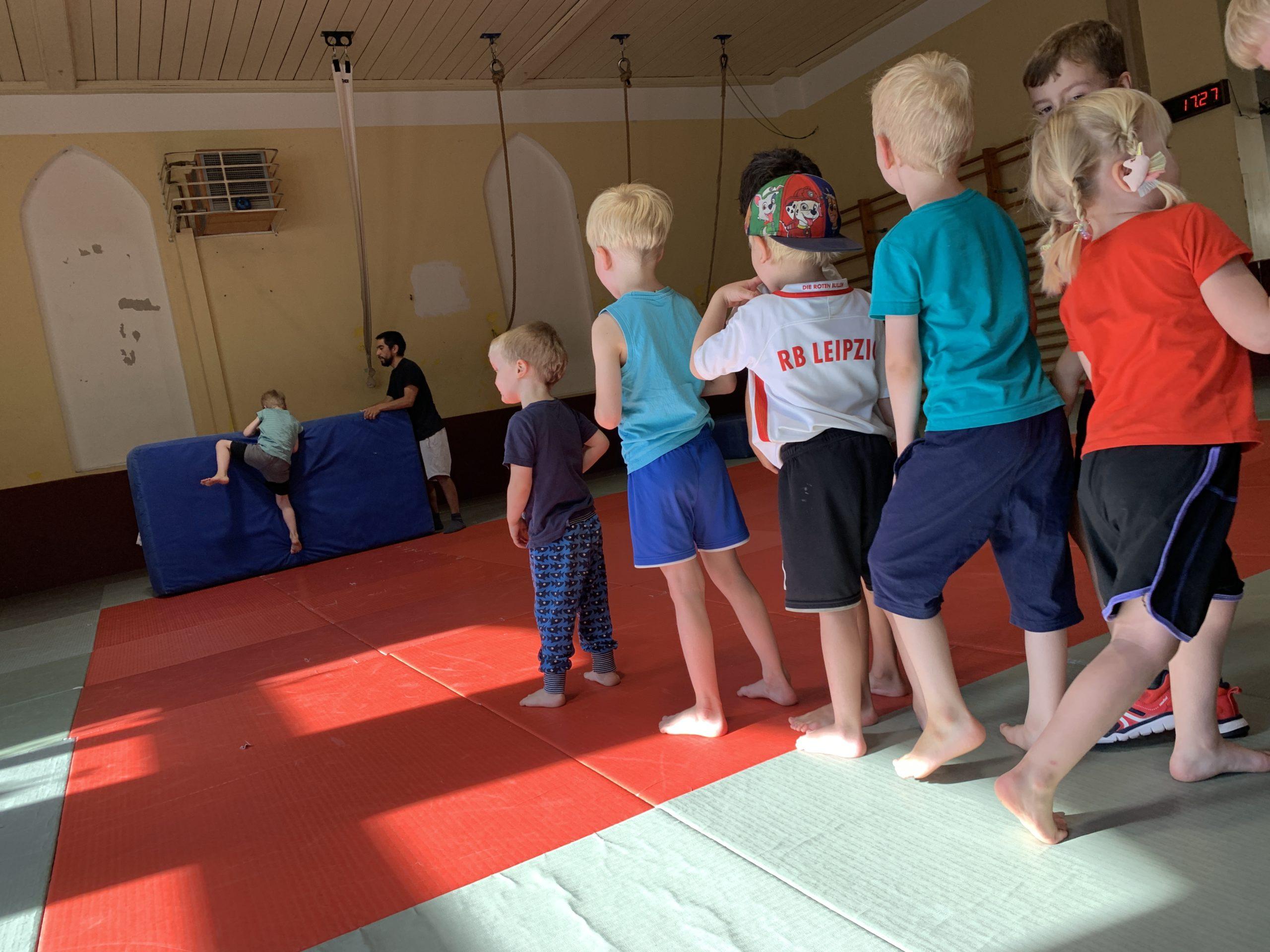 Erwin im Einsatz beim Kindersport